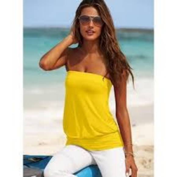 31da1611d9 Moda International Yellow Tube Top